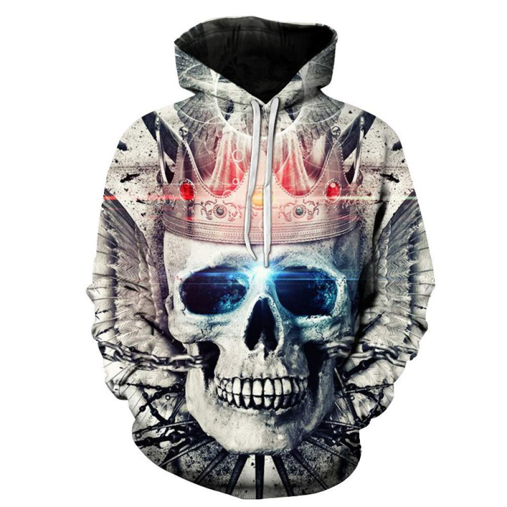 WEIYI270 XXXL 3D Hoody Coat Outwear Blouse Fashion Coat Winter Jacket with hat Crown Digital Print Hooded Couple Sweater