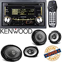Kenwood Double DIN CD Bluetooth SiriusXM Car Stereo 2) Kenwood KFC-1665S 6.5 300 Watt 2-Way + 2) 6x9 400 Watt 3-Way Car Speakers