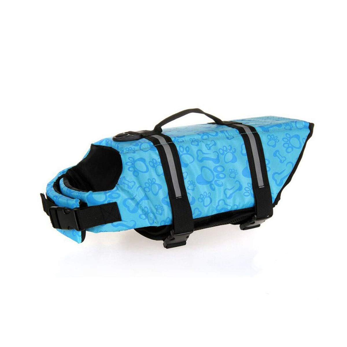 bluee XS bluee XS Life Jacket, Dog Breathable and Comfortable Swimming Vest, Oxford Cloth Quality Material, Pink and Other Multi-color Optional, Easy to Carry (Size  M, XS) (color   bluee, Size   XS)