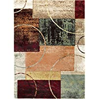 Conner Contemporary Abstract Multi-Color Rectangle Area Rug, 5' x 7'
