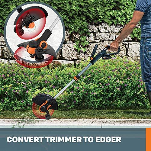 """WORX WG163 GT 3.0 20V PowerShare 12"""" Cordless String Trimmer & Edger"""