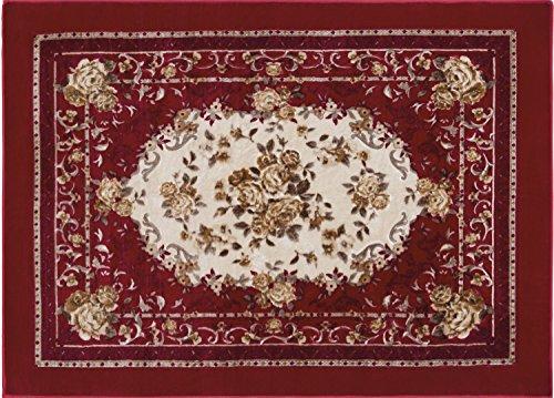 Tapete Floral Orient Canton JolitexVermelho 100x140cm