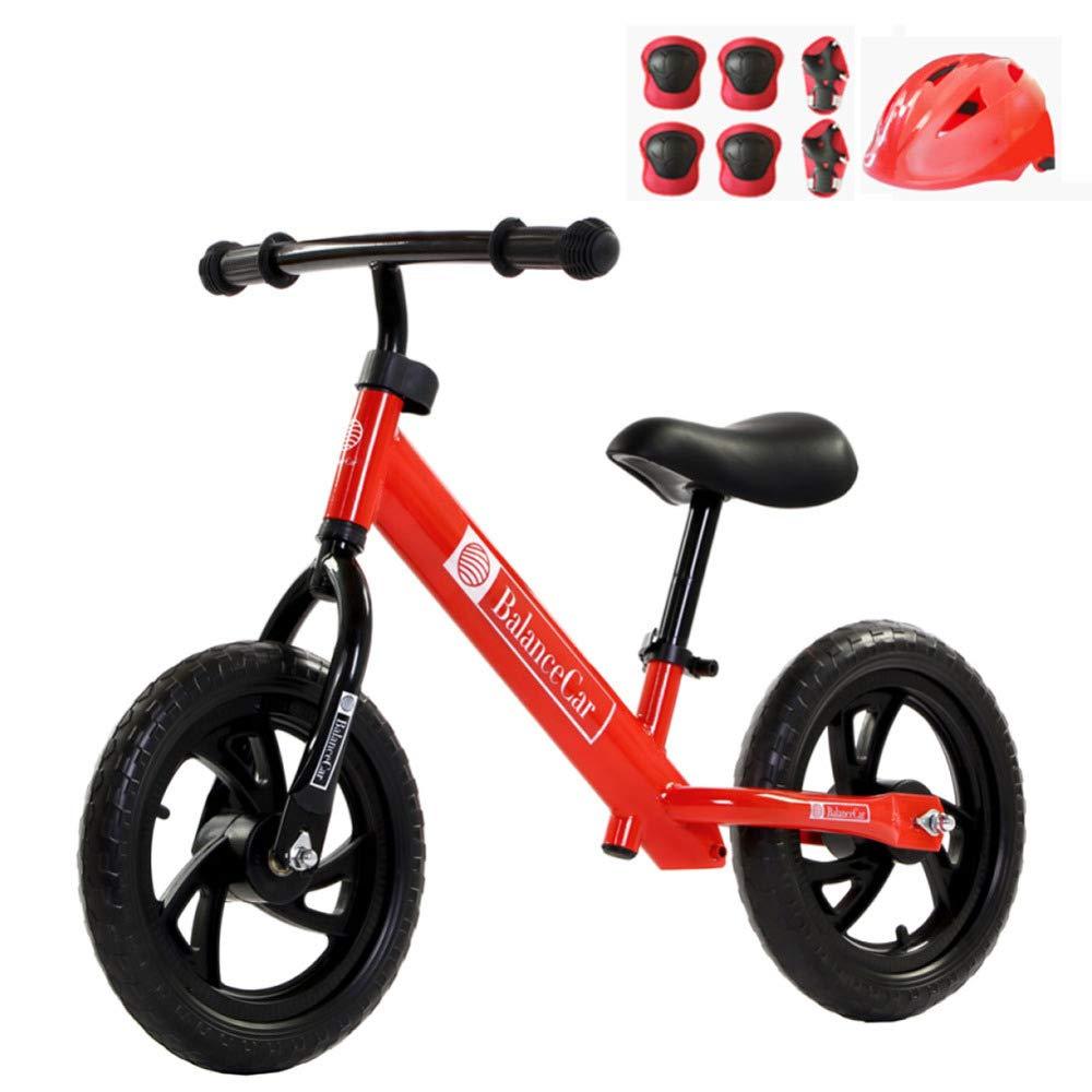 Balance 12 Zoll Kinder Lernen, Auf Spielzeug Mit Fußstütze Radfahren Fahrrad Outdoor-Sport Walker Fahren,rot-12'' rot 12''
