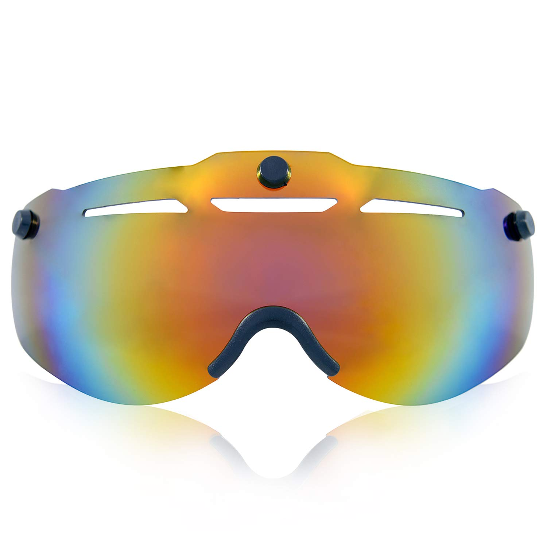 Anharluka Road Mountain Bike Helm mit Abnehmbaren Magnet Shield Visier (Goggle), für Multisport