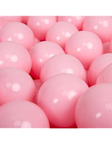 KiddyMoon 700 Bolas/7Cm ∅ 7Cm Bolas para Piscina Certificadas para Niños, Rosa Claro