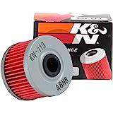 K&N Filtro de óleo para motocicleta: Alto desempenho, Premium, projetado para ser usado com óleos sintéticos ou convencionais