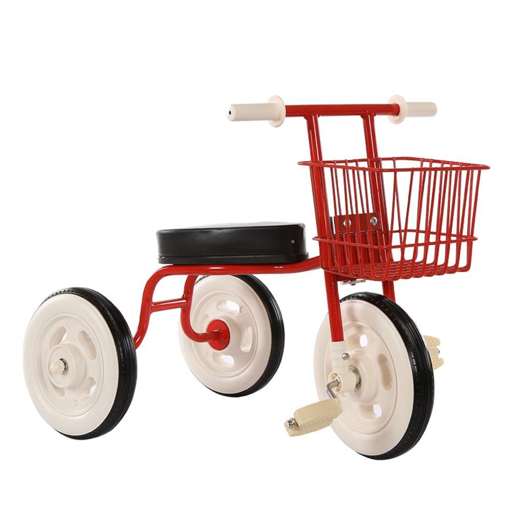 Kinderfahrräder Guo Shop- Einfaches Kinderdreirad-Weinlese-Fahrrad-Baby-Fahrrad 1-3-4 Jahre Altes Baby-Auto-Innenwagen