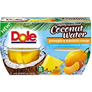 DOLE FRUIT BOWLS Pineapple and Mandarin Orange in Slightly Sweetened Coconut Water, 4 Cups (6 Pack)