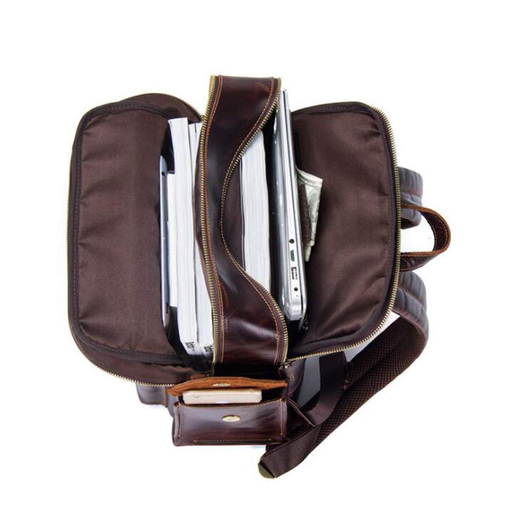 9659c1b53b ... LINANNAV Zaino da Viaggio Vintage in Pelle per Laptop, Zaino Zaino Zaino  da Viaggio, ...
