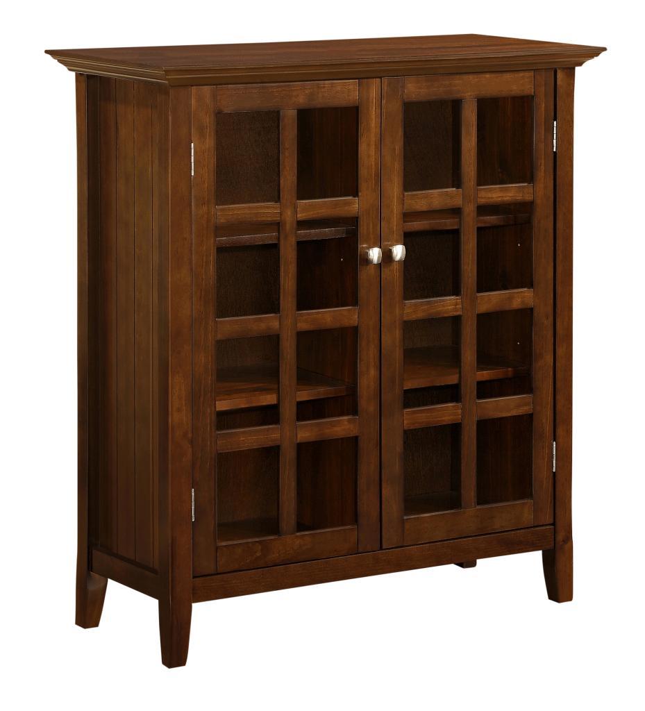 Simpli home acadian medium storage cabinet for Sideboard 3 00 m