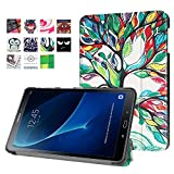 Samsung Galaxy Tab A 10.1 Cover Case (SM-T580/SM-T585) - Slim Lightweight Standing Custom Fit Cover [Auto Sleep / Wake up] for Tab A 10.1 Inch Tablet (life tree)