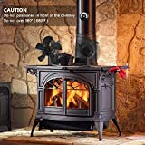 X-cosrack 5 Blades Heat Powered Stove Fan for