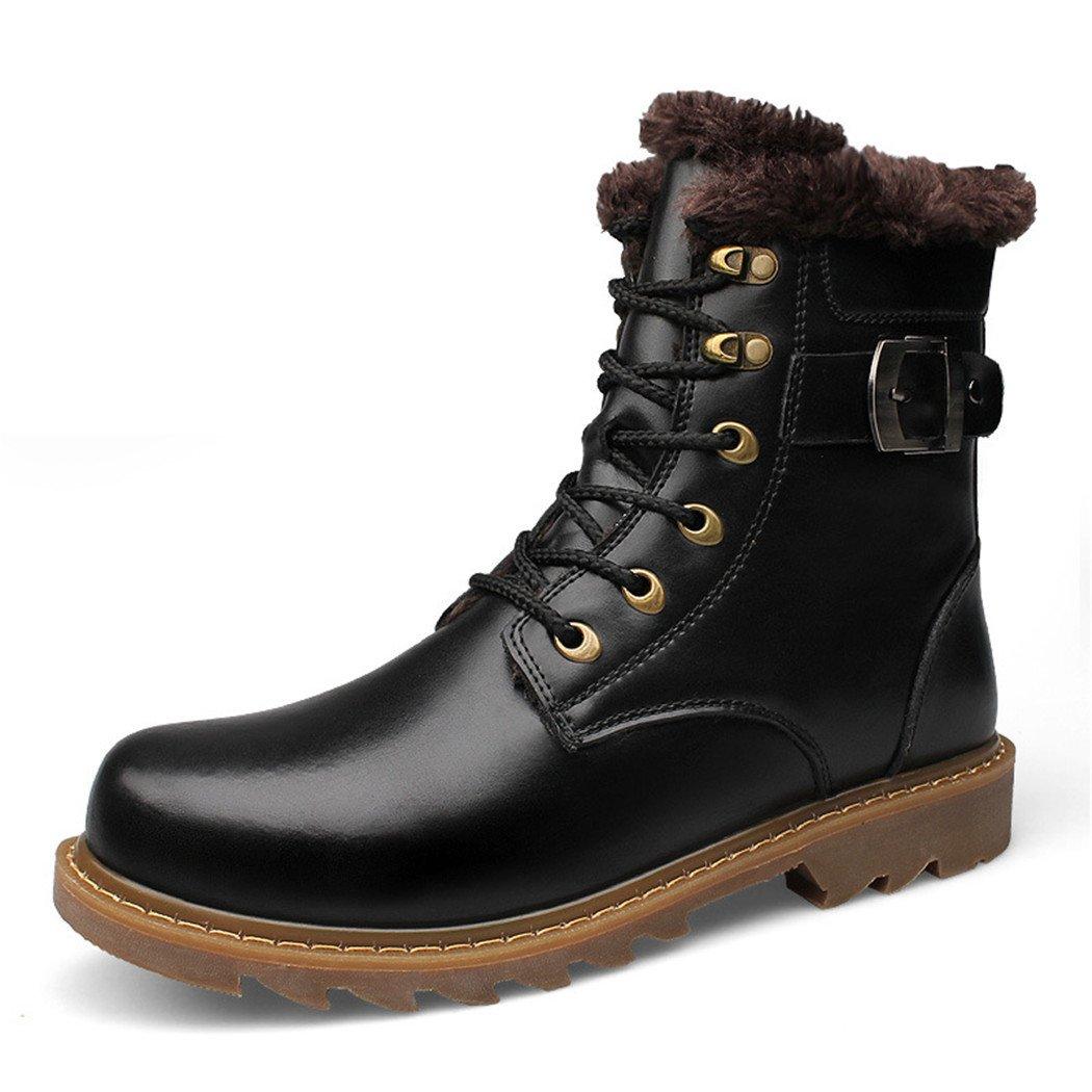 ZQ@QXEl invierno, además de Europa y los Estados Unidos más de moda de cachemir herramienta caliente botas botas hombres Martin botas, Negro y algodón, 46 46 Black plus cotton Black plus cotton