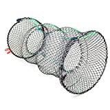 Jmkcoz 1PC Crab Trap Crawfish Lobster Shrimp Collapsible Cast Net Fishing Nets 25cm x 45cm