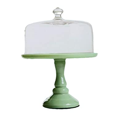 The Pioneer Woman Timeless Beauty 10  Cake Stand with Glass Cover