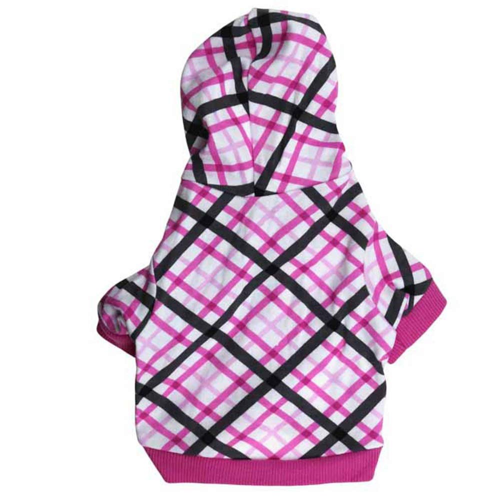 As shown L As shown L Huayue Dog Clothes with Hood Sweater Diamond Box Pity (color   As Shown, Size   L)