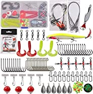 Saltwater Fishing Lure Surf Fishing Tackle - 131 pcs Fishing Rigs Fishing Hooks Fishing Lure Fishing Wire Lead