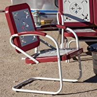 Coral Coast Paradise Cove Retro Metal Arm Chair
