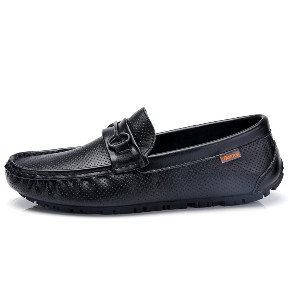 JIALUN-Schuhe Herren Komfortable Driving Loafer Hohl Vamp Vamp Vamp Echtes Leder Slip-on Penny Mokassins Schuhe Mit Schnalle Decor (Farbe   Schwarz, Größe   38 EU)  7d9c16
