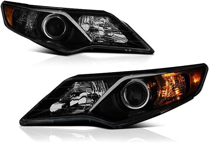 Amazon.com: VIPMOTOZ - Faro delantero con proyector de estilo OEA, color negro ahumado para Toyota Camry modelos de 2012-2014, lado del conductor y del pasajero: Automotive