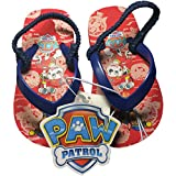 Paw Patrol Toddler Boy's Flip Flop Thong Sandals-Red/Navy-Size M 7/8 (US)