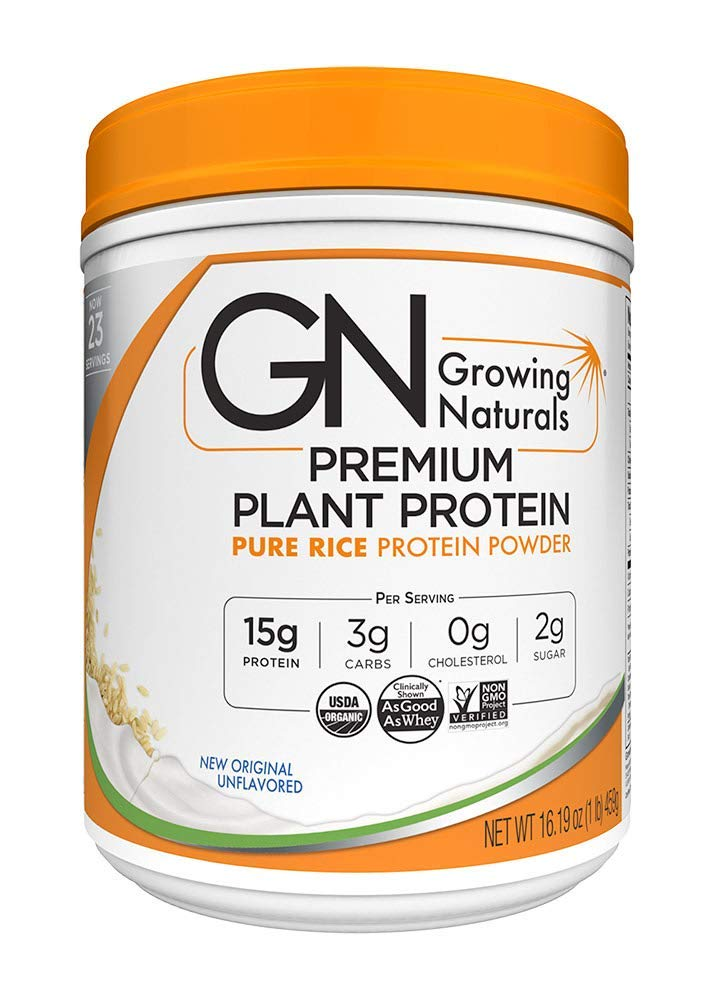 Growing Naturals Pea Protein Powder, Original, 16 Ounce