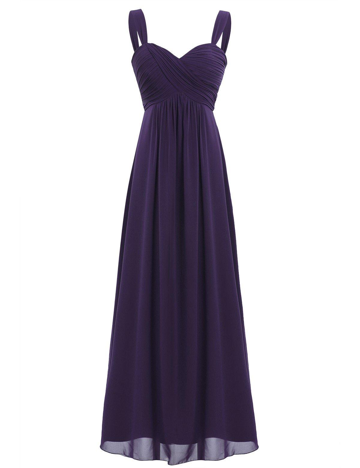 62238c2eb Freebily Vestido Largo de Fiesta Cóctel Boda para Mujer Dama de Honor  Vestido Noche Elegante de