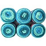Sweet Roll Yarn, 5oz, 6-Pack (Frosty Swirl)