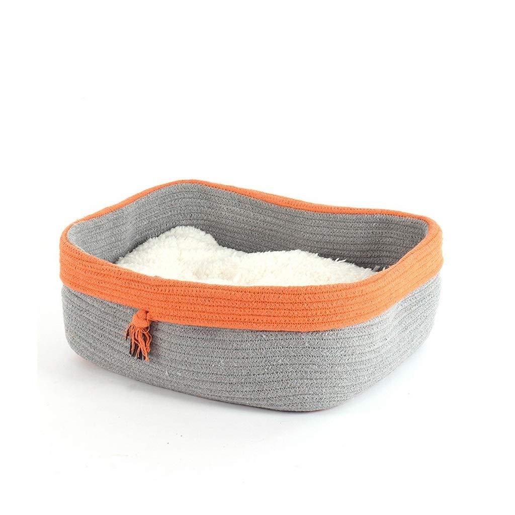 2  DSADDSD Pet Bed Keep Warm Cat Litter Cat Bed Washable Nonslip Comfort Four Seasons Universal Pet Supplies (color   1 )