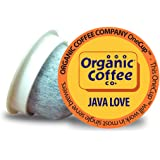 Organic Coffee Co. OneCUP Java Love 80 Ct Medium Light Roast Compostable Coffee Pods, K Cup Compatible including Keurig 2.0