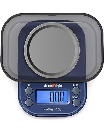 ACCUWEIGHT 255 Báscula Digitale de Precisión, 300 g / 0.01 g Balanzas de Joyería Portátiles