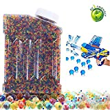 """Water Beads Rainbow Mix Jelly Water Growing Balls for Children Non Toxic Beads Crystal Water Gel Beads Jelly Water Pearl for Orbeez Refill,Sensory Toys,Vase Fillerr,Plants Craft,and Home Decor,15,000pcs (0.5"""",Mixcolor)"""