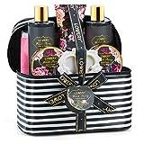Home Spa Gift Basket, Luxury 8 Piece Bath & Body