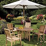 """WholesaleTeak Grade-A Teak Wood 48"""" Round Butterfly Dining Table #WHDT48"""