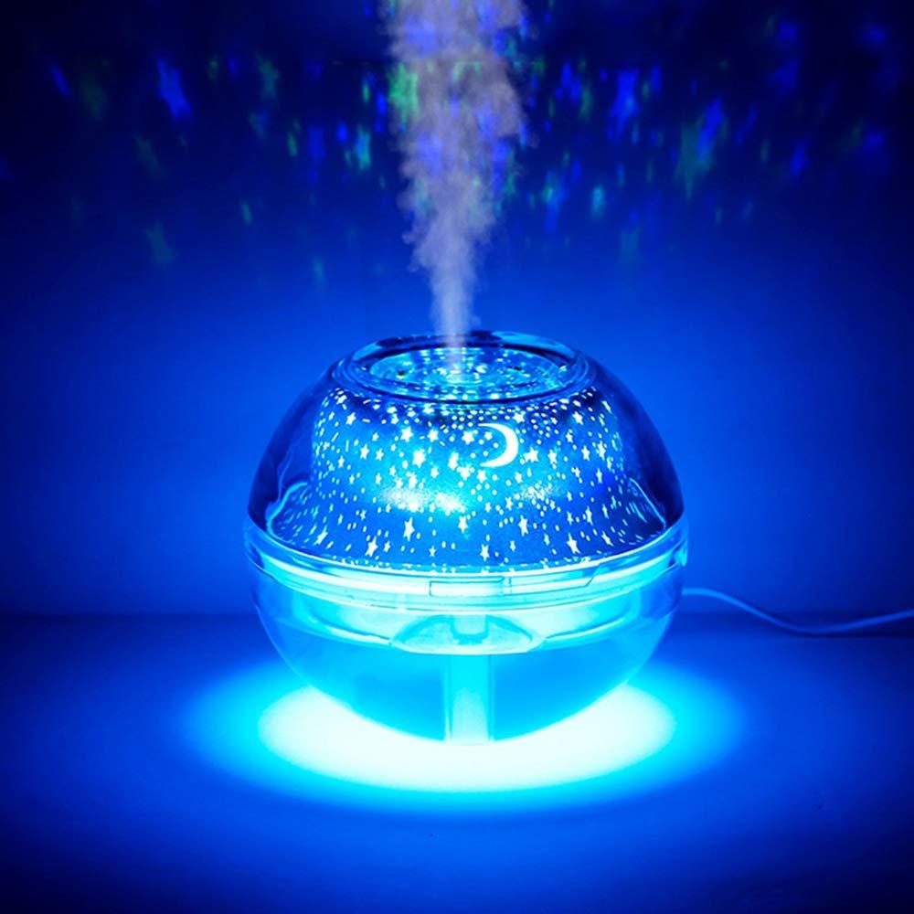 Wuchance Wuchance Wuchance 4W Colorido USB LED Crystal Night Light Projector Humidificador de Aire Difusor silencioso para casa de cabecera (Color : Plata) 805252