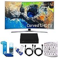 Samsung UN49MU7500 48.5 Curved 4K Ultra HD Smart LED TV (2017 Model) Plus Terk Cut-the-Cord HD Digital TV Tuner and Recorder 16GB Hook-Up Bundle