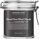 MAJESTIC PURE Dead Sea Mud Mask with Lavender Oil - Natural Face and Skin Care - Helps Reducing Pores and Appearances of Acne