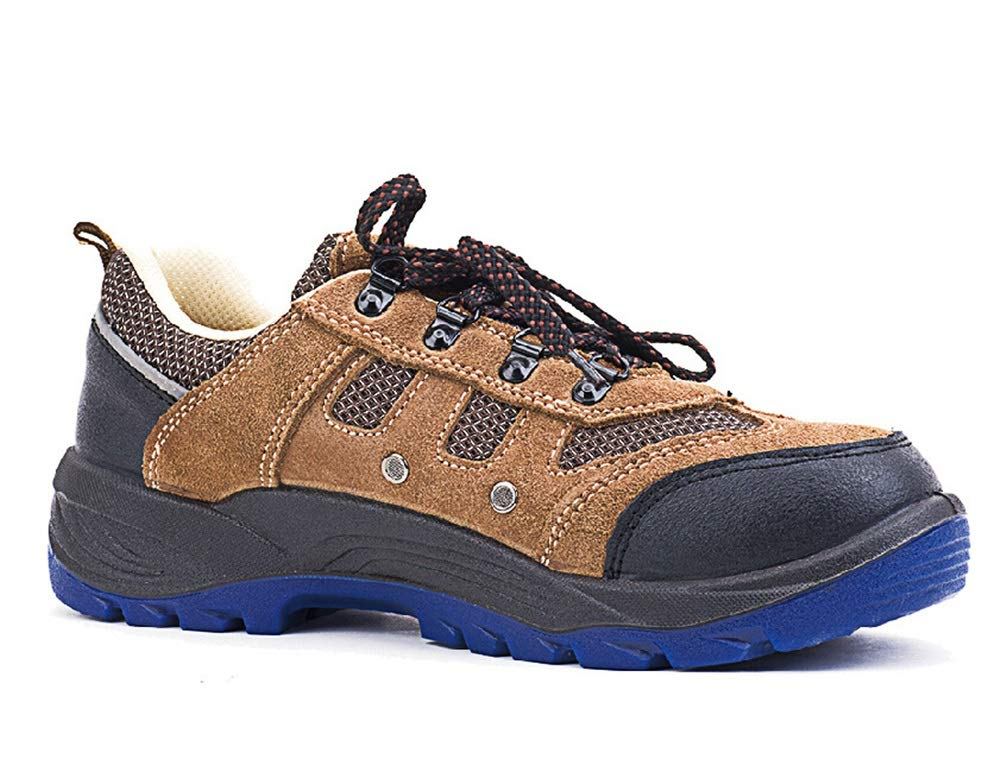 Ywqwdae Mens Comfort Labour Insurance Schuhe atmungsaktiv Anti Static Static Static Non Slip Schuhe (Farbe   Braun Größe   EU 39) c03651