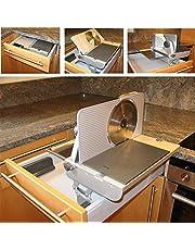 AES 62 S allessnijder voor inbouw in laden vanaf 45 cm carrosseriebreedte snijgoed rechts geleid in zilvermetallic broodsnijmachine inklapbaar keuken multisnijder