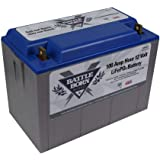 Battle Born LiFePO4 Deep Cycle Battery - 100Ah 12v with Built-In BMS - 3000-5000 Deep Cycle Rechargeable Battery - Perfect fo