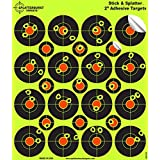 """25 Pack - (400) 2"""" """"Stick & Splatter"""" Adhesive SPLATTERBURST Shooting Targets - Instantly See Your Shots Burst Bright Fluorescent Yellow Upon Impact - Great for all firearms, rifles, pistols, AirSoft, BB and Pellet guns!"""