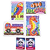 Orb Factory 6-Item Craft Kit Bundle Includes 4 Mini Sticky Mosaics Designs and 2 PlushCraft Mini Schnauzers 3D