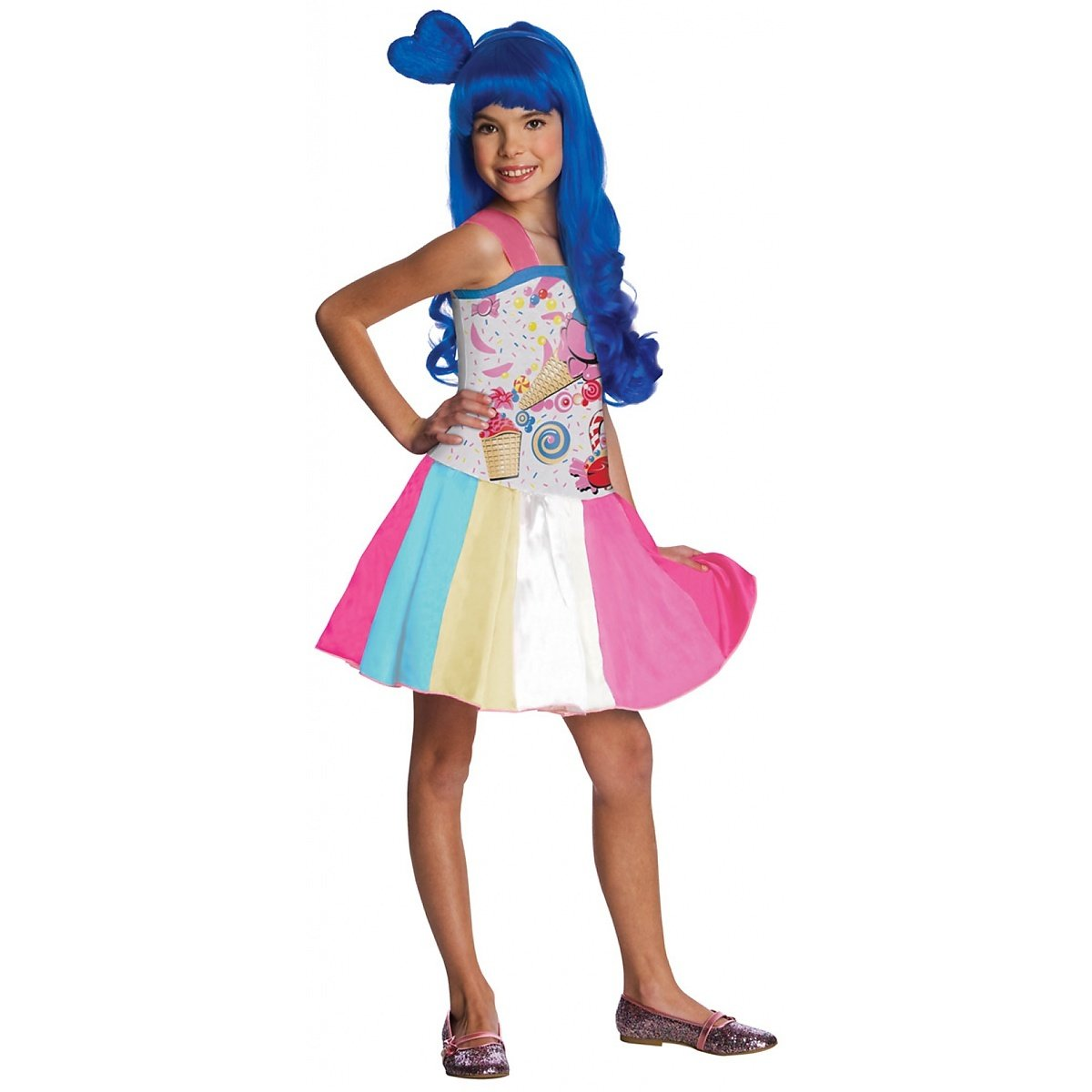 Rubies Costume Co R881659-S Girls Katy Perry Candy Girl Costume PEQUE-O