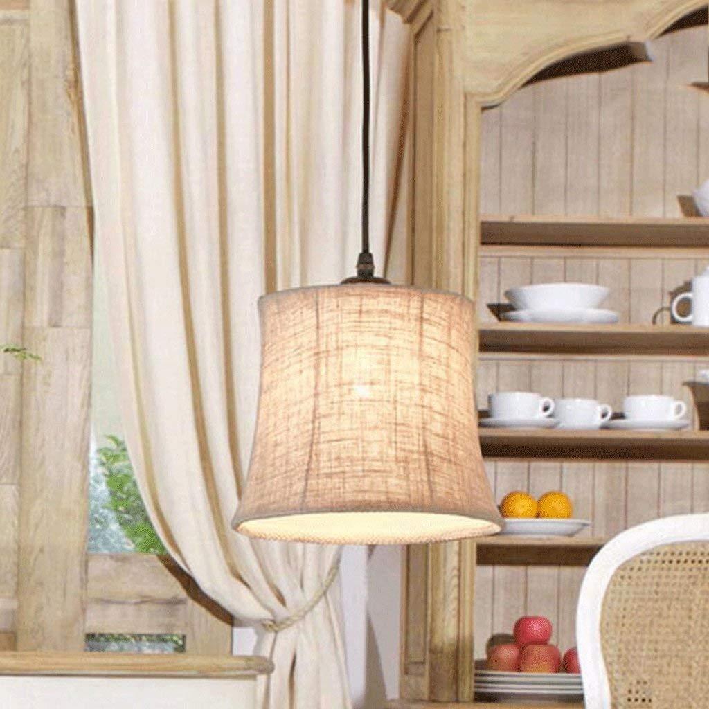 FXING Kronleuchter amerikanische Ländliche Kronleuchter kreative Restaurant Lichter Tuch Kronleuchter modernen minimalistischen Schlafzimmer Studie Lampen (Größe  S)