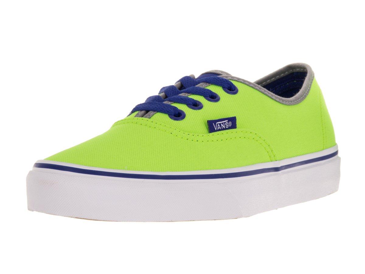 Vans Authentic B0198WRFLC 6.5 D(M) US|Neon Green/Blue