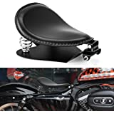 Leather Motorcycle Solo Seat Springs Mounting Bracket Kit Compatible with Harley Sportster XL 883 1200 Bobber Chopper Custom