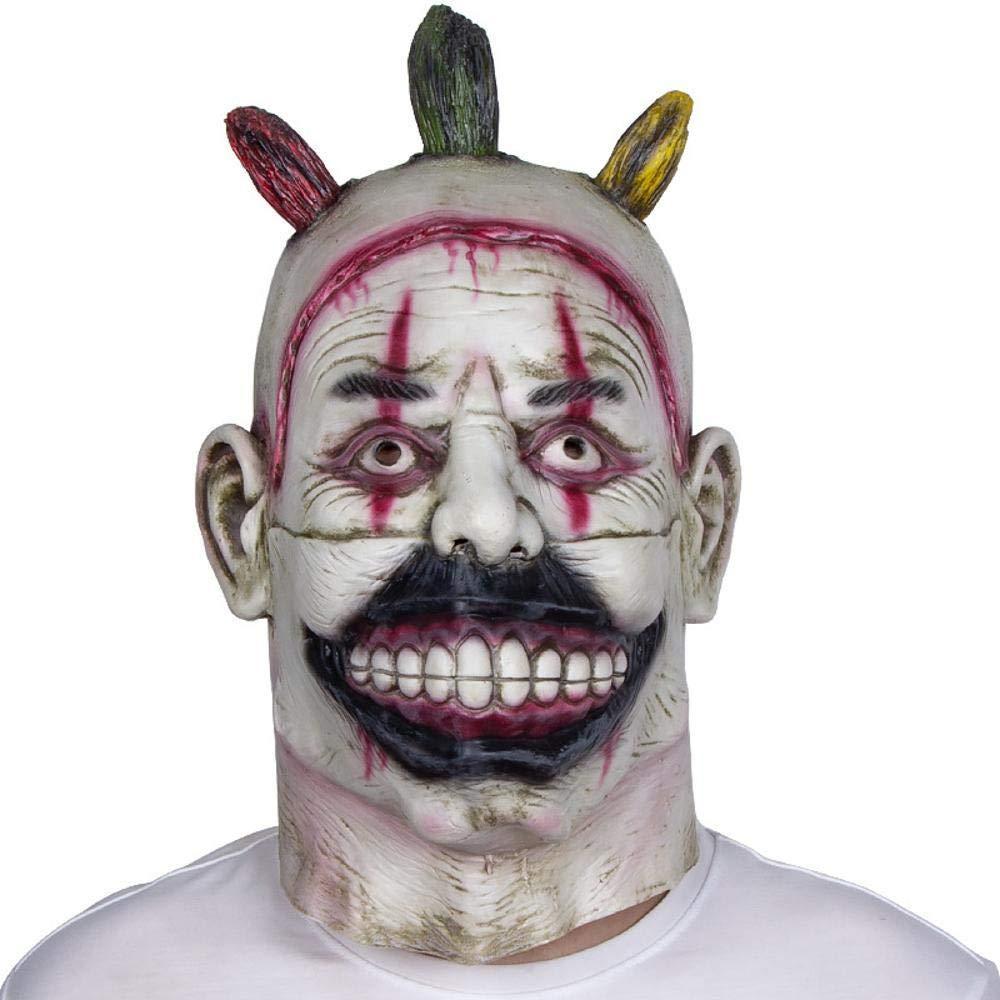 LXIANGP Latex Headgear Halloween Scary Horror Payaso Máscara Bar Party Ball Cod Ghost Mask
