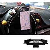 Car Cell Phone Holder Dashboard Speficific Stand Plug-in Bracket Hands-Free Cradle (4-6.5 Inch Phone) for Mini Cooper JCW F55