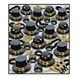 Beistle 88679BKGD100 Showtime Gold Party Favors, 1 Assortment Per Package