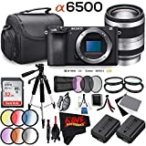 Sony Alpha a6500 Mirrorless Digital Camera (Body Only) International Version (No Warranty) + E 18-200mm f/3.5-6.3 Lens Bundle